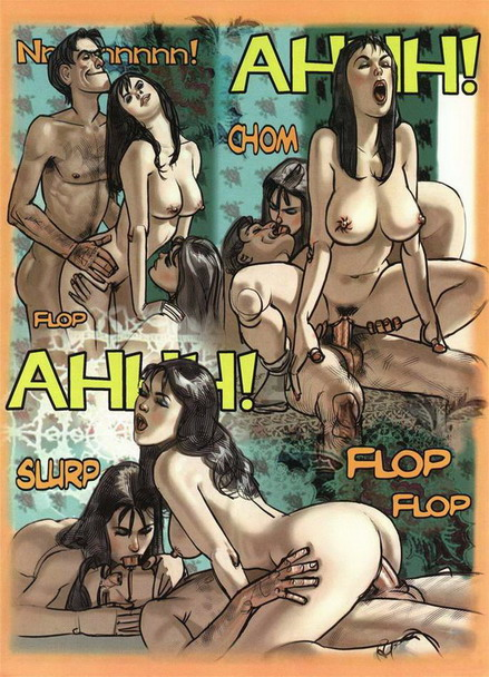 One guy fucks two girls - new porn comics