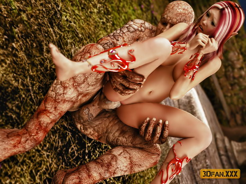 3d zombie babe double teamed - 3 part 10